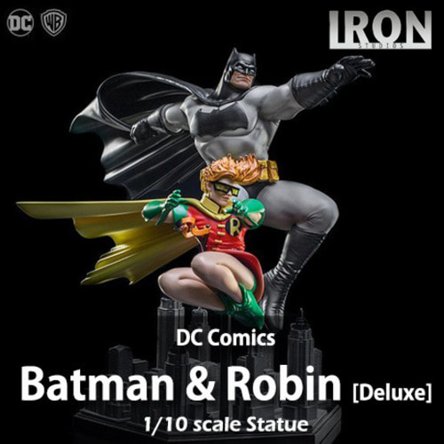 [예약상품][IRON STUDIOS] 배트맨 & 로빈 디럭스 1/10 DC Comics Batman & Robin Deluxe Exclusive