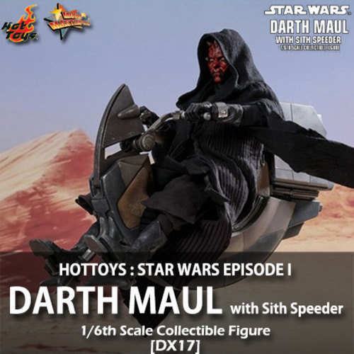 [품절][HOTTOYS] 스타워즈 에피소드 1 : 다스몰 [시스 스피더] 1/6 Star Wars Episode I : Darth Maul [with Sith Speeder][DX17]