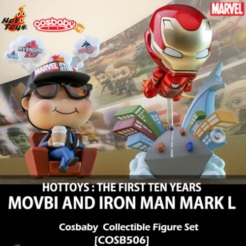 [입고][HOTTOYS] 마블 10주년기념 : 모비 & 마크50 코스베이비 세트 Marvel Studios : Movbi and Iron Man Mark L Cosbaby (S) Collectible Set [COSB506]