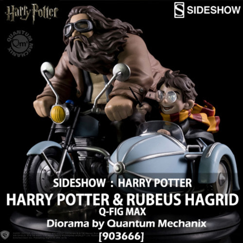 [재고][SIDESHOW][Quantum Mechanix] 해리포터와 해그리드 디오라마 Harry Potter and Rubeus Hagrid Q-Fig Max Diorama [903666]