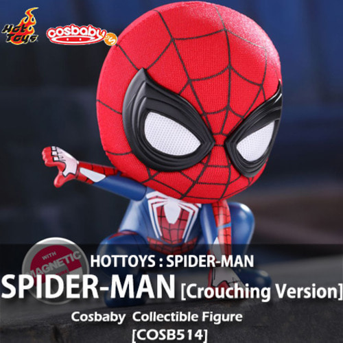 [품절][HOTTOYS] 스파이더맨 [웅크린버전] 코스베이비 Spider-Man [Crouching Version] Cosbaby(S) Bobble-Head [COSB514]