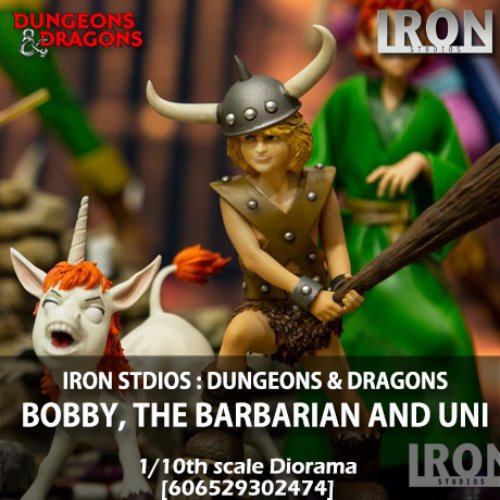 [예약상품][IRON STUDIOS] 던전앤드래곤 : 보비와 유니 1/10 Dungeons & Dragons : Bobby, the Barbarian and Uni