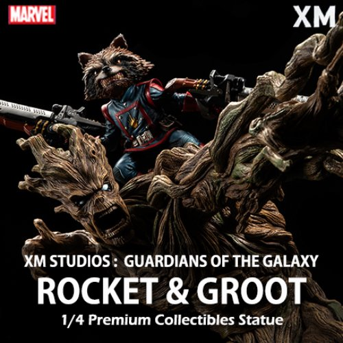 [품절][XM STUDIOS] 가디언즈오브갤럭시 : 로켓 & 그루트 1/4 Guardians of the Galaxy : Rocket & Groot Premium Collectibles statue