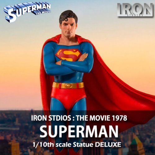 [품절][IRON STUDIOS] DC코믹스 : 슈퍼맨 1978 디럭스 아트 스케일 1/10 DC Comics : Superman The Movie 1978 Deluxe Art Scale Statue