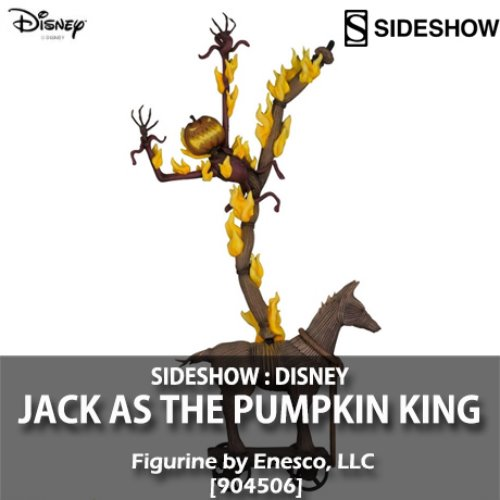 [품절][SIDESHOW] 디즈니 : 펌프킨 킹 잭 Disney : Jack as the Pumpkin King Figurine [904506]