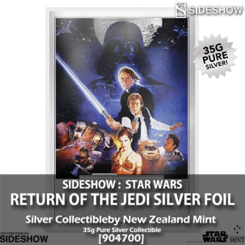 [예약상품][SIDESHOW][New Zealand Mint] 스타워즈 : 제다이의 귀환 실버 호일 Star Wars: Return of the Jedi Silver Foil [904700]