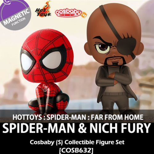 [입고][HOTTOYS] 마블 : 스파이더맨과 닉 퓨리 코스베이비 Spider-Man and Nick Fury Cosbaby (S) Bobble-Head [COSB632]