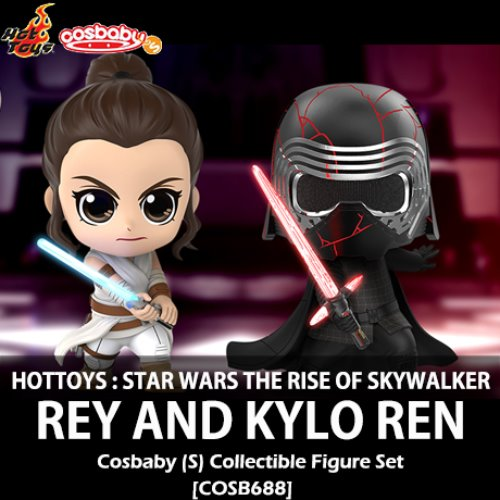 [입고][HOTTOYS] 스타워즈 라이즈오브스카이워커 : 레이 & 카일로 렌 코스베이비 세트 Star Wars The Rise of Skywalker : Rey and Kylo Ren Cosbaby (S) Bobble-Head Collectible Set [COSB688]