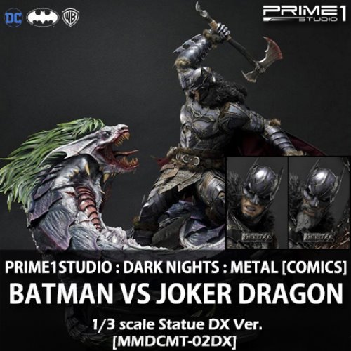 [예약상품][PRIME 1 STUDIO] 다크나이트 메탈 [코믹스] : 배트맨 vs 조커 드래곤 [디럭스버전] 1/3 Dark Nights Metal [Comics] : Batman vs Joker Dragon [Deluxe Version][MMDCMT-02DX]