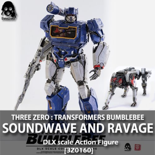 [예약상품][THREE A] 트랜스포머 범블비 : 사운드웨이브 & 래비지 DLX 스케일 Transformers Bumblebee : SOUNDWAVE AND RAVAGE DLX scale collectible figure [3Z0160]